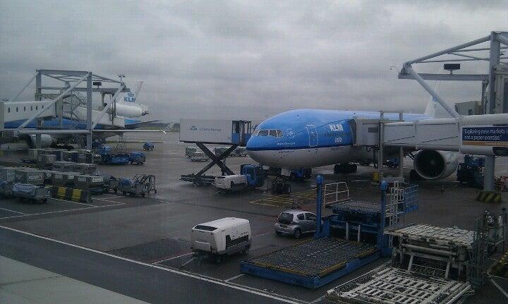 Het vliegtuig dat me naar Amerika brengt