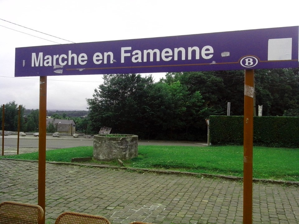Station van Marche-en-Famenne