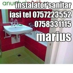 instalator sanitar iasi  0758331115 0757223552